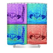 Four Crabs Under The Sea Shower Curtain