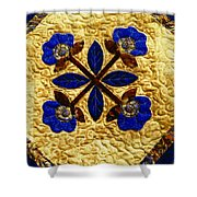 Four Flowers Shower Curtain