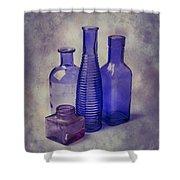 Four Glass Bottles Shower Curtain