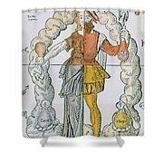 Four Humors Hippocratic Medicine Shower Curtain