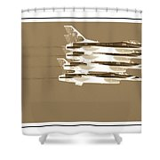 Four In A Row Shower Curtain