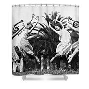 Four Leaping Grecian Dancers Shower Curtain
