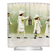 Four Little Girls Shower Curtain
