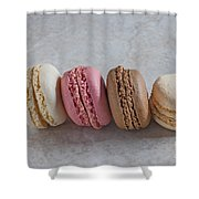 Four Macarons In A Row Shower Curtain