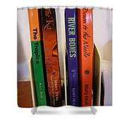 Four Of My Ten Books Published Shower Curtain