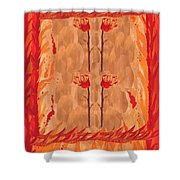 Four Of Wands Shower Curtain