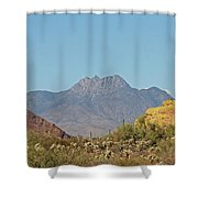 Four Peaks From The Apache Trail Shower Curtain