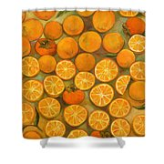 Four Persimmons Shower Curtain