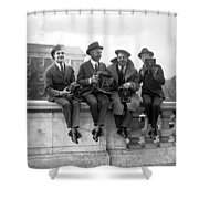 Four Photographers Shower Curtain