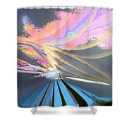Four Planets Shower Curtain