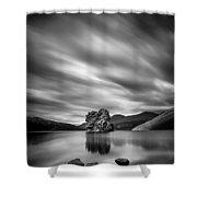Four Rocks Shower Curtain by Dave Bowman