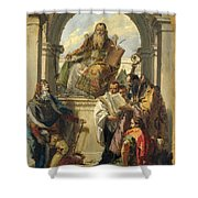 Four Saints Shower Curtain