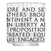 Four Score Shower Curtain by Greg Fortier