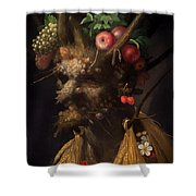Four Seasons In One Head Shower Curtain