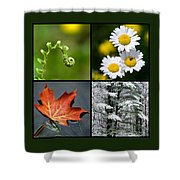 Four Seasons Nature Square Shower Curtain