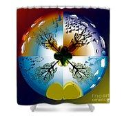 Four Seasons Roundel Shower Curtain