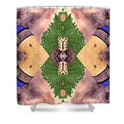 Four Towers Sigil Shower Curtain