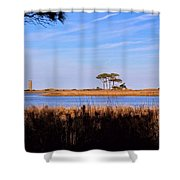 Four Trees H Shower Curtain