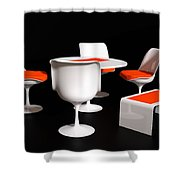 Four Tulip Chairs Shower Curtain