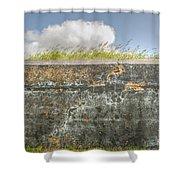 Fourt Moultrie Battery Jasper Wall Shower Curtain