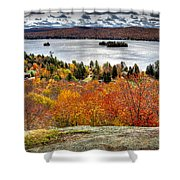 Fourth Lake From Above Shower Curtain