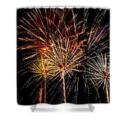 Fourth Of July Fireworks  Shower Curtain by Saija  Lehtonen
