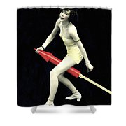 Fourth Of July Rocket Girl Shower Curtain by Underwood Archives