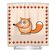 Fox - Animals - Art For Kids Shower Curtain