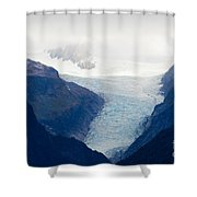 Fox Glacier On South Island Of New Zealand Shower Curtain