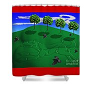 Fox Mound Shower Curtain by Keith Dillon