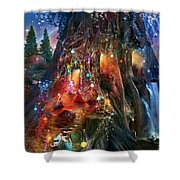 Foxglove Ball Shower Curtain