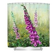 Foxglove Flower Shower Curtain