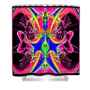 Fractal 15 Color Cacophony  Shower Curtain