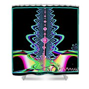 Fractal 21 Jeweled Plume Shower Curtain