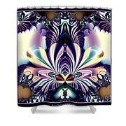 Fractal 26 Jeweled Tone Lotus Flower Shower Curtain