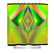 Fractal 32 Up Up And Away Shower Curtain