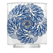 Fractal 4 Shower Curtain