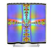 Fractal 7 Cross Shower Curtain
