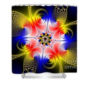 Fractal 8 Shower Curtain