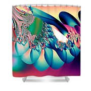 Fractal Abstract 001 Shower Curtain