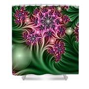 Fractal Abstract Dreamy Garden Shower Curtain