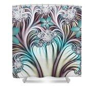 Fractal Abstract Fantasy Flower Garden 2 Shower Curtain