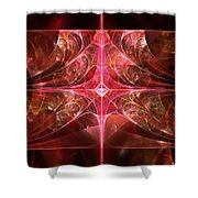 Fractal - Abstract - The Essecence Of Simplicity Shower Curtain