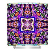Fractal Ascension Shower Curtain by Derek Gedney