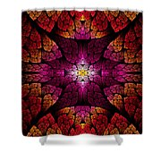 Fractal - Aztec - The All Seeing Eye Shower Curtain