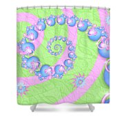 Fractal Baby Toys Shower Curtain