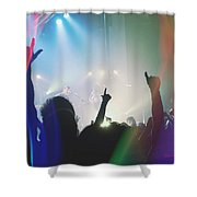 Fractal Beings 3-who Let The Show Go On Shower Curtain