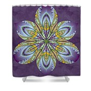 Fractal Blossom Shower Curtain by Derek Gedney