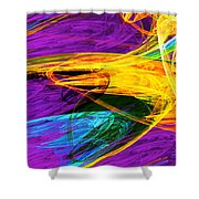 Fractal - Butterfly Wing Closeup Shower Curtain
