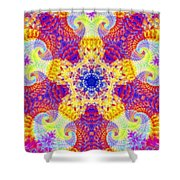 Fractal Corridors Shower Curtain